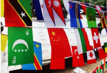 Custom Outdoor International Bunting String Flag Decorations