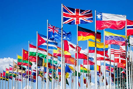 international national flags of all countries